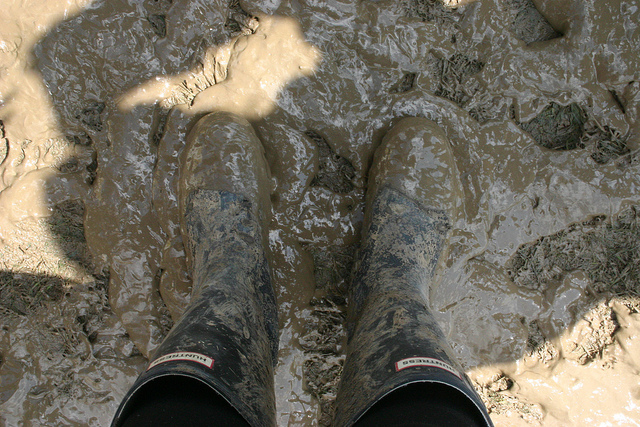 Muddy Boots at Glastonbury Festival